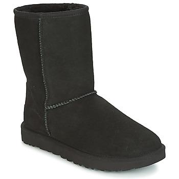 鞋子 女士 短筒靴 UGG CLASSIC SHORT II 黑色