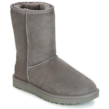 鞋子 女士 短筒靴 UGG CLASSIC SHORT II 灰色