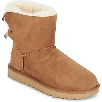 鞋子 女士 短筒靴 UGG MINI BAILEY BOW II 駝色
