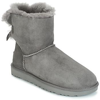 鞋子 女士 短筒靴 UGG MINI BAILEY BOW II 灰色