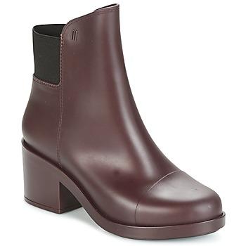 鞋子 女士 短靴 Melissa 梅丽莎 ELASTIC BOOTS 波尔多红