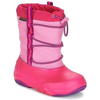 鞋子 女孩 雪地靴 crocs 卡骆驰 Swiftwater waterproof boot Party / 粉色