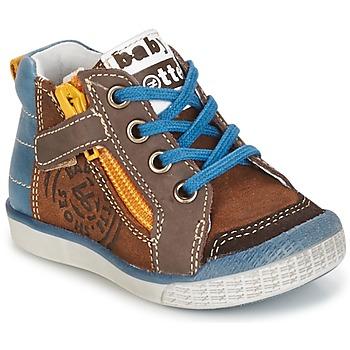 鞋子 男孩 高帮鞋 Babybotte 宝宝波特 AKRO 棕色 / 蓝色