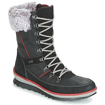 鞋子 女士 雪地靴 Rieker 瑞克尔 BISKA 黑色