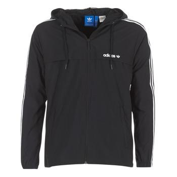 衣服 男士 冲锋衣 Adidas Originals 阿迪达斯三叶草 3 STRIPED WB 黑色