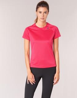 衣服 女士 短袖体恤 adidas Performance 阿迪达斯运动训练 D2M TEE LOSE 玫瑰色