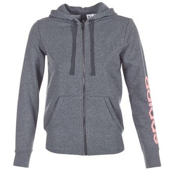 衣服 女士 卫衣 adidas Performance 阿迪达斯运动训练 ESS LIN FZ HD 灰色