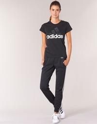 衣服 女士 厚裤子 adidas Performance 阿迪达斯运动训练 ESS 3S PANT CH 黑色