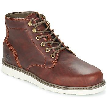鞋子 男士 短筒靴 Timberland 添柏岚 NEWMARKET LUG PT CHUKKA 棕色