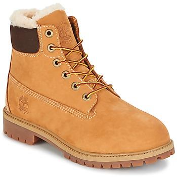 鞋子 儿童 短筒靴 Timberland 添柏岚 6 IN PRMWPSHEARLING LINED 棕色