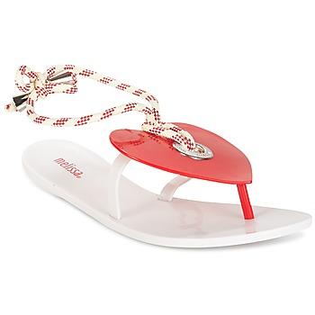 鞋子 女士 人字拖 Melissa 梅丽莎 BLISS II SP AD 白色 / 红色