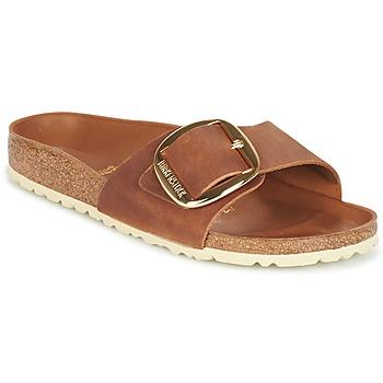 鞋子 女士 休闲凉拖/沙滩鞋 Birkenstock 勃肯 MADRID BIG BUCKLE 棕色