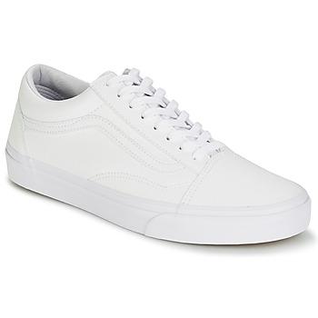 鞋子 球鞋基本款 Vans 范斯 OLD SKOOL 白色