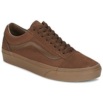 鞋子 男士 球鞋基本款 Vans 范斯 OLD SKOOL 棕色