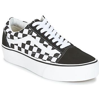 鞋子 女士 球鞋基本款 Vans 范斯 UA OLD SKOOL PLATFORM 黑色 / 白色