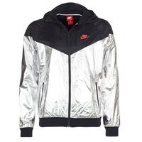 衣服 男士 冲锋衣 Nike 耐克 WINDRUNNER METALLIC 黑色 / 银色