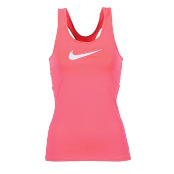 衣服 女士 无领短袖套衫/无袖T恤 Nike 耐克 NIKE PRO COOL TANK 玫瑰色 / 白色