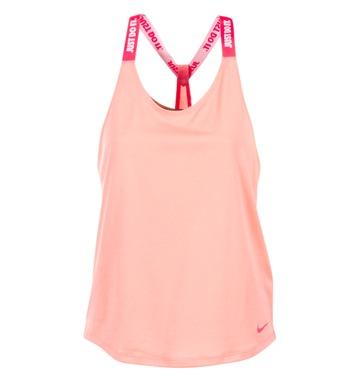 衣服 女士 无领短袖套衫/无袖T恤 Nike 耐克 NIKE DRY TANK ELASTIKA 玫瑰色 / 红色