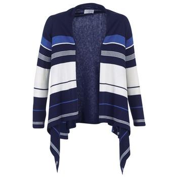 衣服 女士 羊毛开衫 Casual Attitude HARINE 海蓝色 / 白色