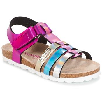 鞋子 女孩 凉鞋 Les Tropéziennes par M Belarbi POLINA 玫瑰色 / 蓝色 / 银灰色