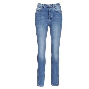 衣服 女士 紧身牛仔裤 Pepe jeans GLADIS Ga7 / 蓝色 / 米色