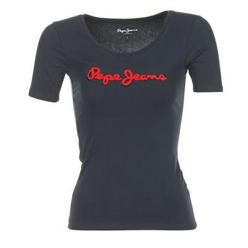 衣服 女士 短袖体恤 Pepe jeans MARIA 黑色