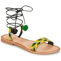鞋子 女士 凉鞋 Lola Espeleta EDWINA 绿色 / 黄色 / 黑色