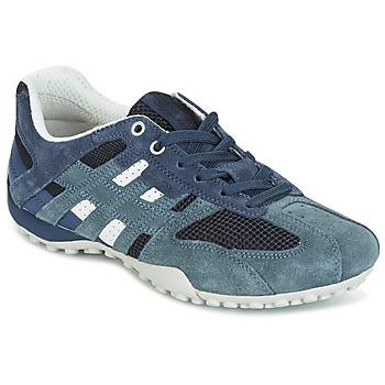鞋子 女士 球鞋基本款 Geox 健乐士 U SNAKE K - SCAM.+MESH 蓝色