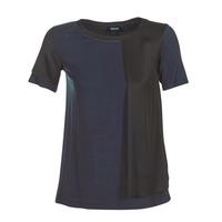 衣服 女士 短袖体恤 Armani jeans DRANIZ 海蓝色 / 黑色
