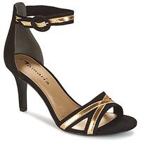 鞋子 女士 凉鞋 Tamaris  黑色 / 金色