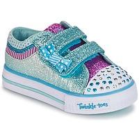鞋子 女孩 球鞋基本款 Skechers 斯凯奇 Shuffles 白色 / 蓝色