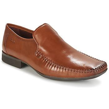 鞋子 男士 皮便鞋 Clarks 其乐 Ferro Step 茶色 /  leather