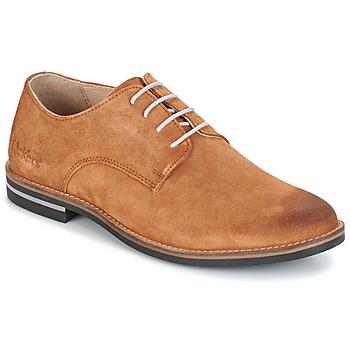 鞋子 男士 德比 Kickers ELDAN 驼色