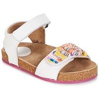 鞋子 女孩 凉鞋 Kickers NAISSA 白色