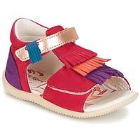 鞋子 女孩 凉鞋 Kickers BIHILANA 紫红色 / 橙色 / 紫罗兰