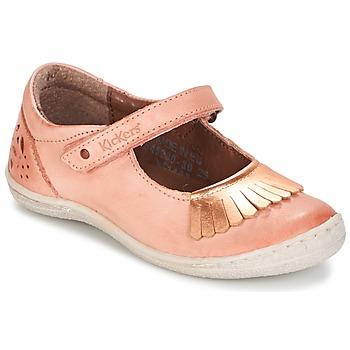 鞋子 女孩 平底鞋 Kickers CALYPSO 珊瑚色