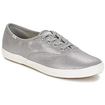鞋子 女士 球鞋基本款 Keds CH METALLIC CANVAS 銀灰色