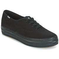 鞋子 女士 球鞋基本款 Keds TRIPLE 黑色