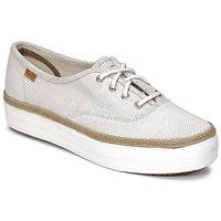 鞋子 女士 球鞋基本款 Keds TRIPLE DALMATA DOT LEATHER 奶白色