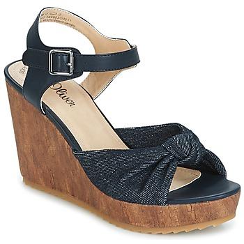 鞋子 女士 凉鞋 S.Oliver  蓝色 / Comb