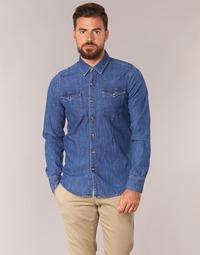 衣服 男士 长袖衬衫 Yurban HERZI 蓝色 / Edium