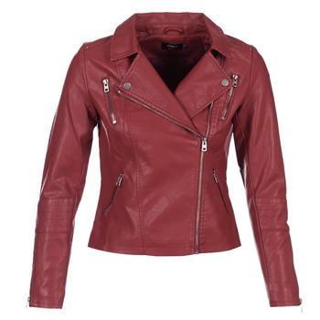衣服 女士 皮夹克/ 人造皮革夹克 Only MADDY 红色