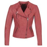衣服 女士 皮夹克/ 人造皮革夹克 Only AVA 红色