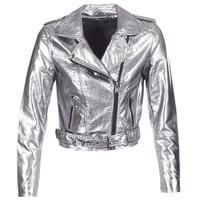 衣服 女士 皮夹克/ 人造皮革夹克 Only ANN 银色