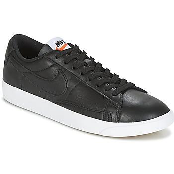 鞋子 女士 球鞋基本款 Nike 耐克 BLAZER LOW LEATHER W 黑色
