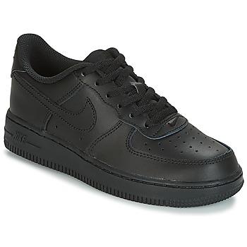 鞋子 儿童 球鞋基本款 Nike 耐克 AIR FORCE 1 CADET 黑色
