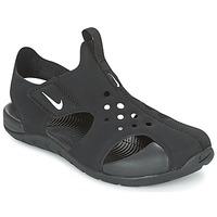 鞋子 儿童 拖鞋 Nike 耐克 SUNRAY PROTECT 2 CADET 黑色 / 白色