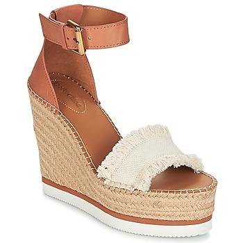 鞋子 女士 帆布便鞋 See by Chloé SB28152 棕色 / 米色