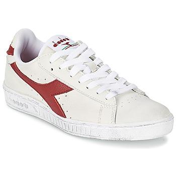 鞋子 球鞋基本款 Diadora 迪亚多纳 GAME L LOW WAXED 白色 / 红色