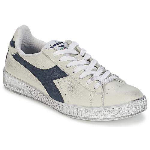 鞋子 球鞋基本款 Diadora 迪亚多纳 GAME L LOW WAXED 白色 / 蓝色